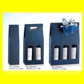 scatole portabottiglie blu