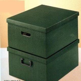 scatole di cartone verdi