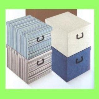 scatole di cartone colori pastello