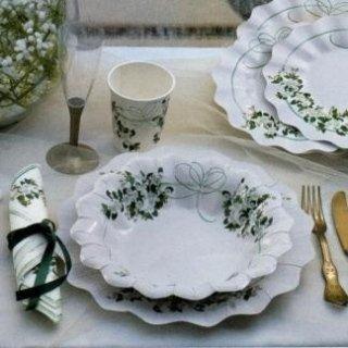 coordinato piatti tovaglioli matrimonio