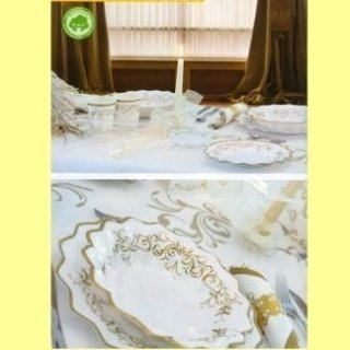 piatti mantrimonio decorazioni oro