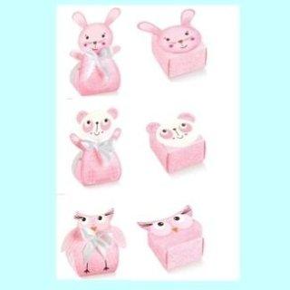 scatole di cartone animaletti rosa