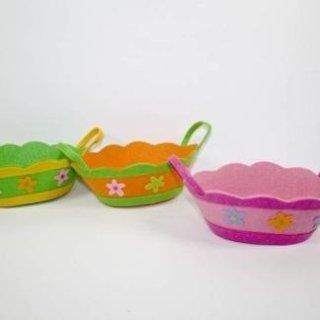 Cestini in tessuto decorati colori assortiti