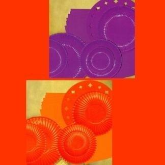 piatti arancio e viola