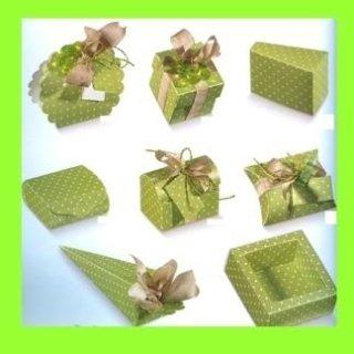 scatole di cartone fantasia verdino
