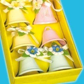 Confezione 6 campanelline decorative