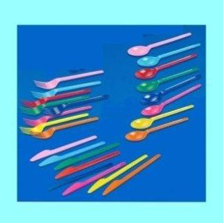 posate di plastica colorate