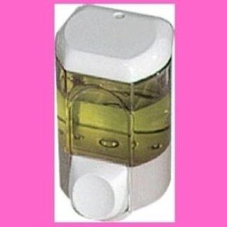dispenser per sapone bianco e tarsparente