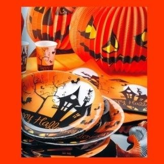piatti e bicchieri tema Halloween