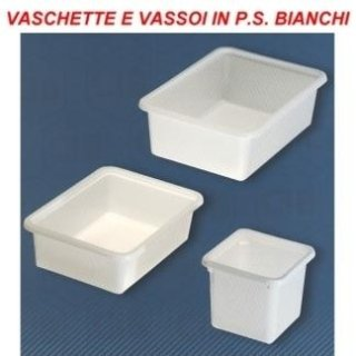 vaschette in plastica bianca