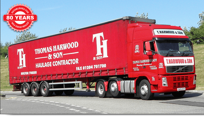 thomas harwood contractor lorry