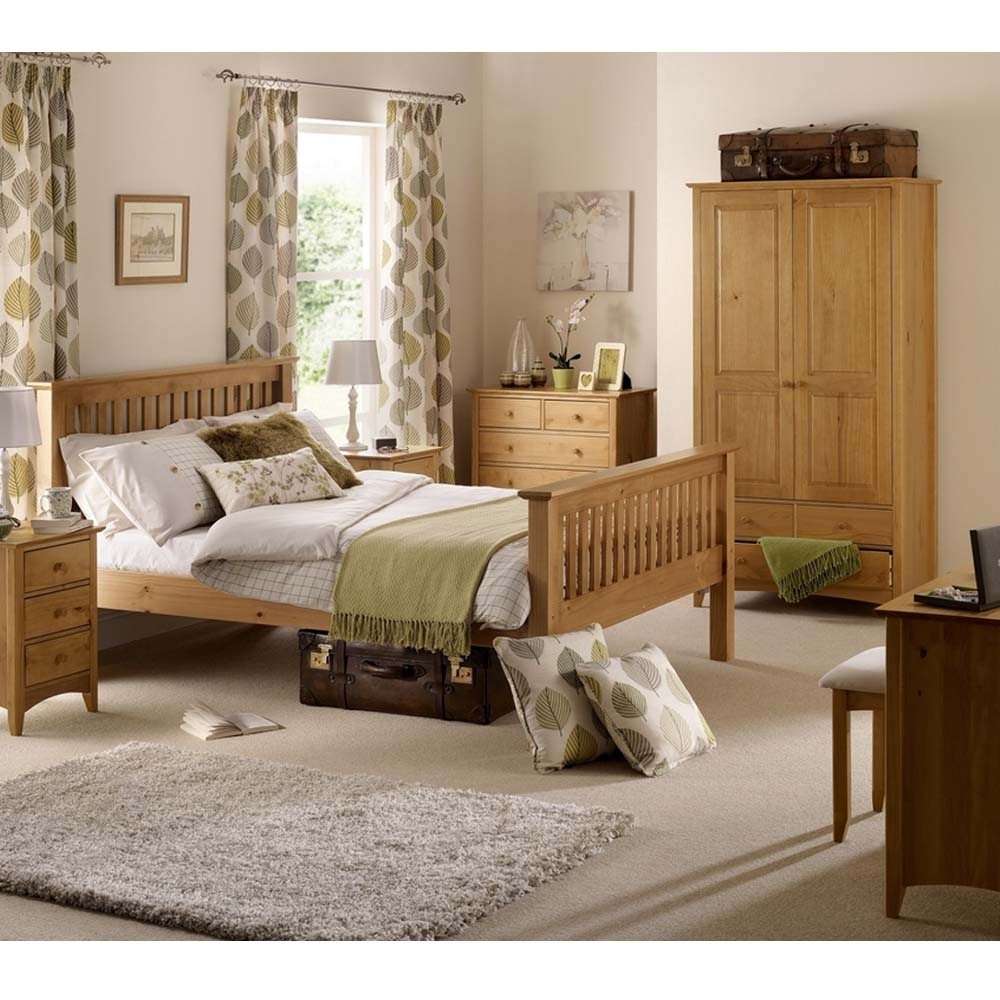 View of a wooden bed frame in Lancaster
