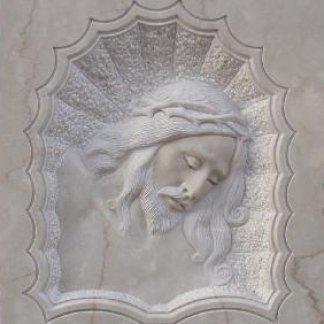 volto di Cristo scolpito