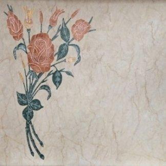 intarsio mazzo di rose