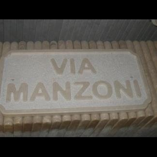 targa via Manzoni