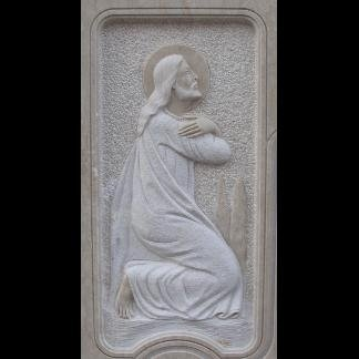 Cristo inginocchiato scolpito in basso rilievo