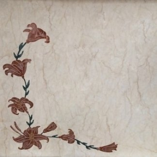 intarsio floreale angolare