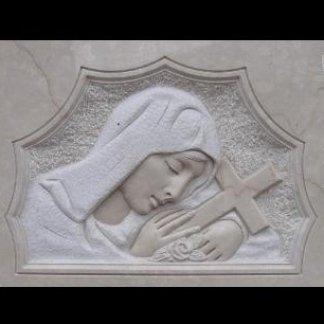 volto di Maria e croce