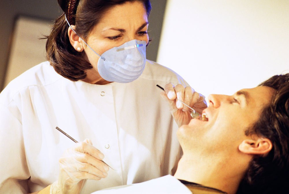 man getting dental crown