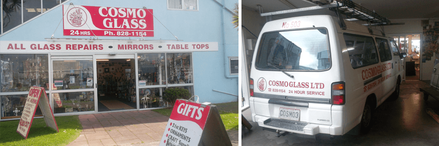 Glaziers store and van in Auckland