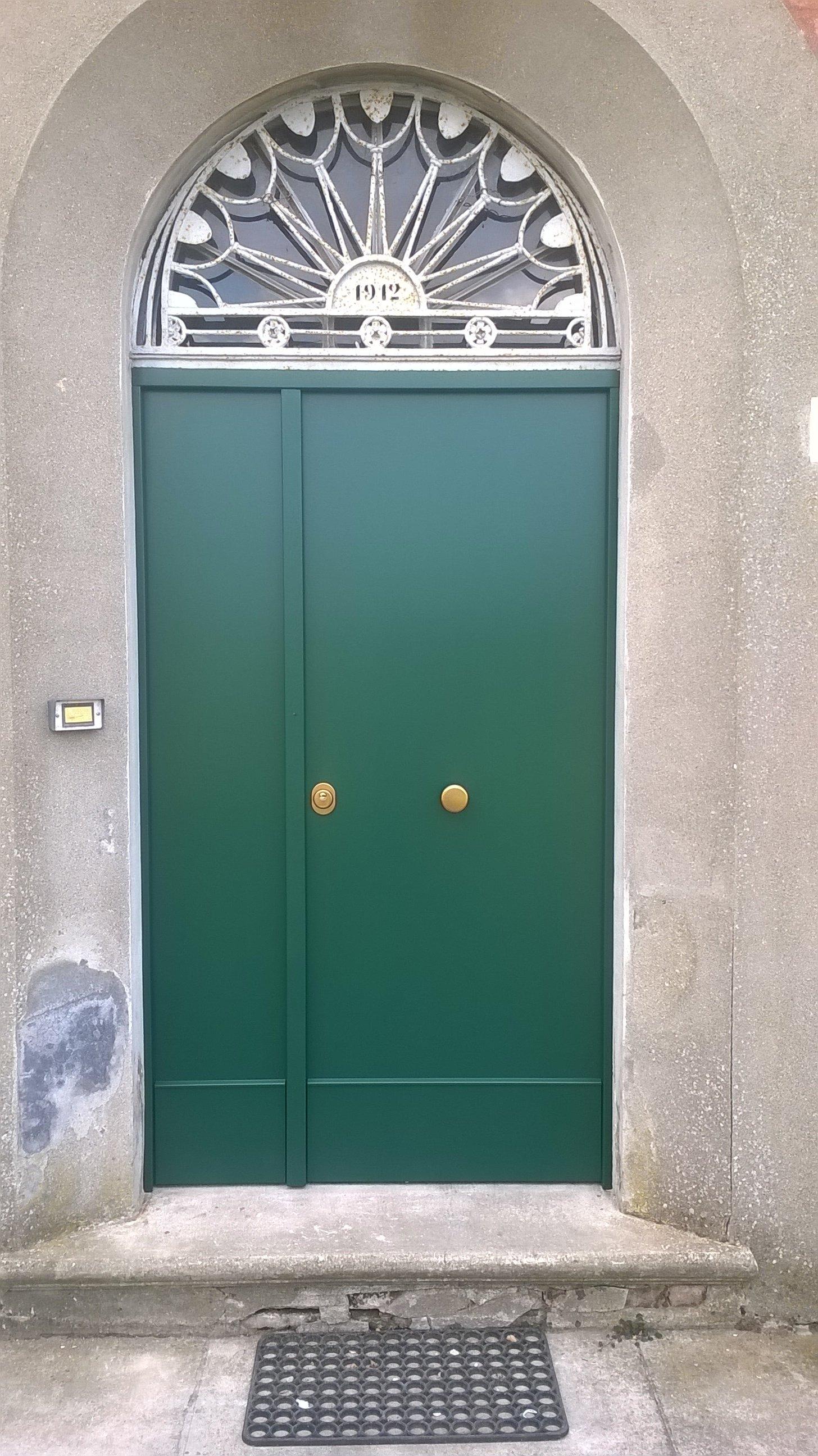 Porta blindata verde
