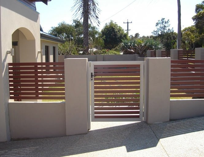 Slatted fence in Claremont