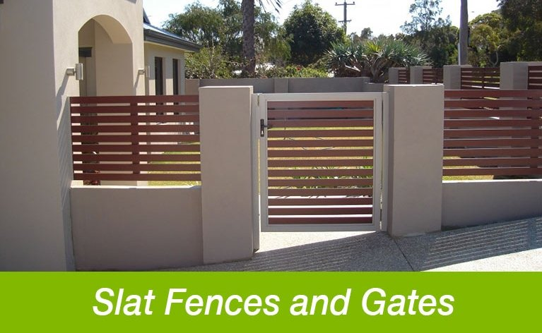 Classic Aluminium slat fences and gates