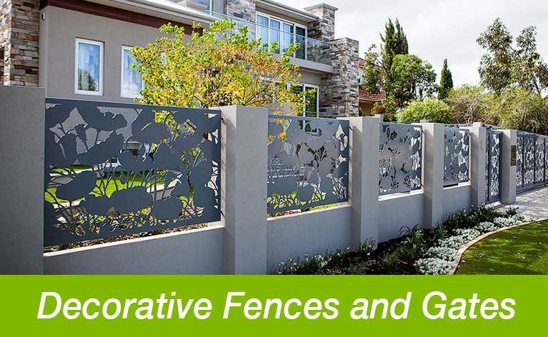 Classic Aluminium decorative fences and gates