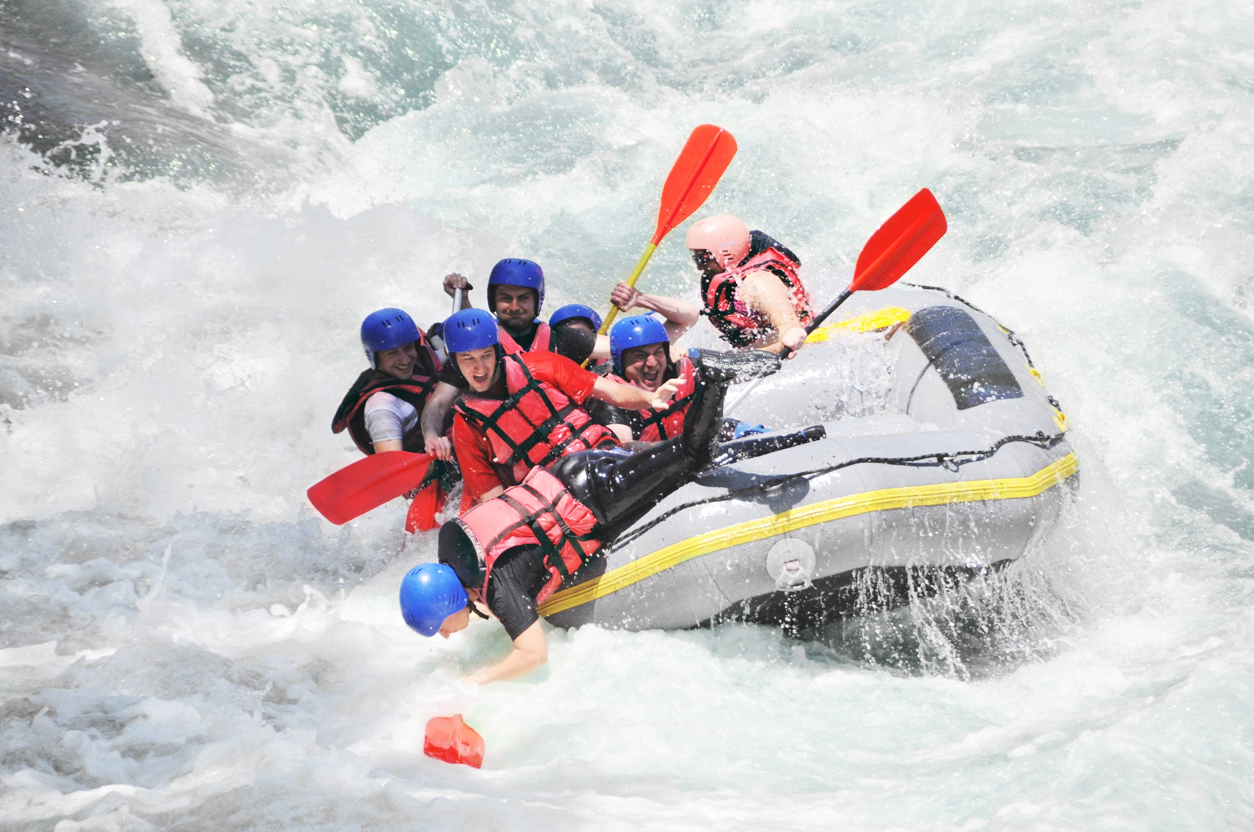 exciting fun white water rafting