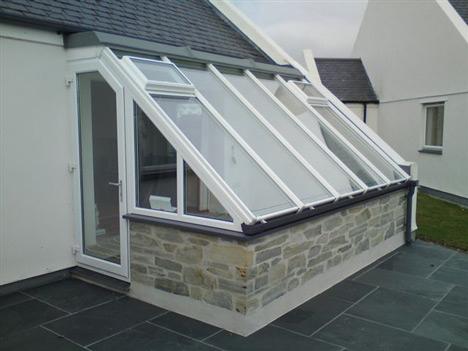 sloped glass windows