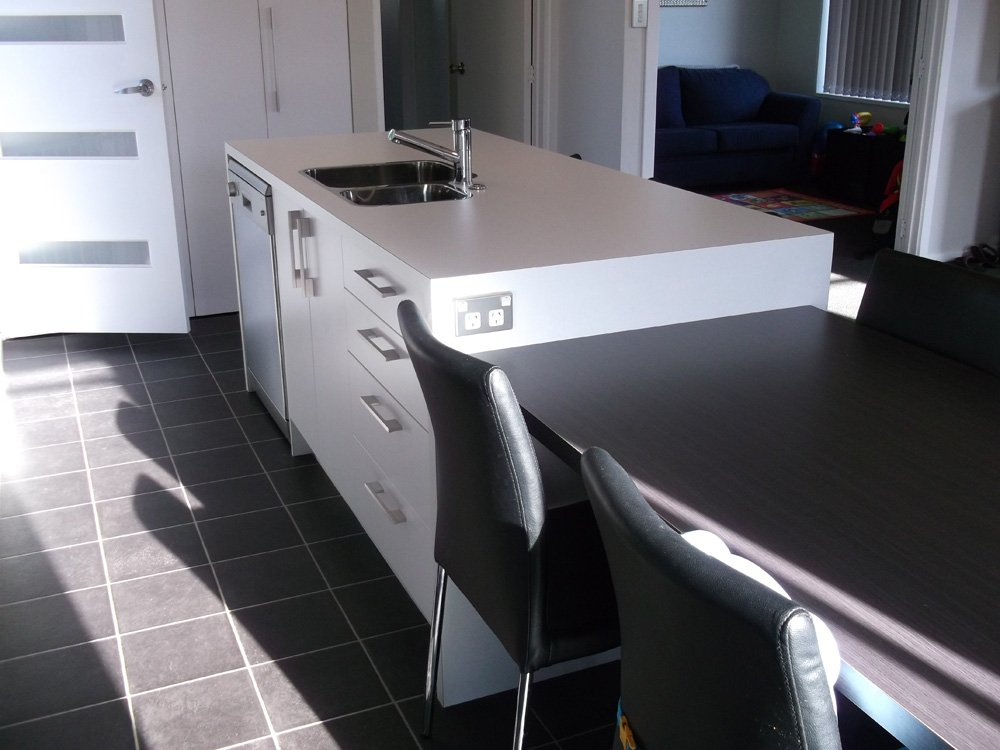 View of the kitchen fitted with various quality accessories in Christchurch