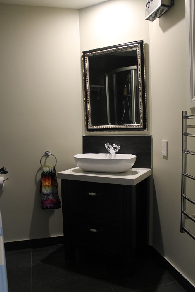 View of the Storage cabinet for the bathroom