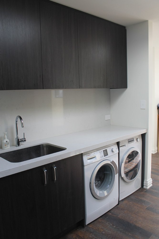 View of a laundry room renovated by expert