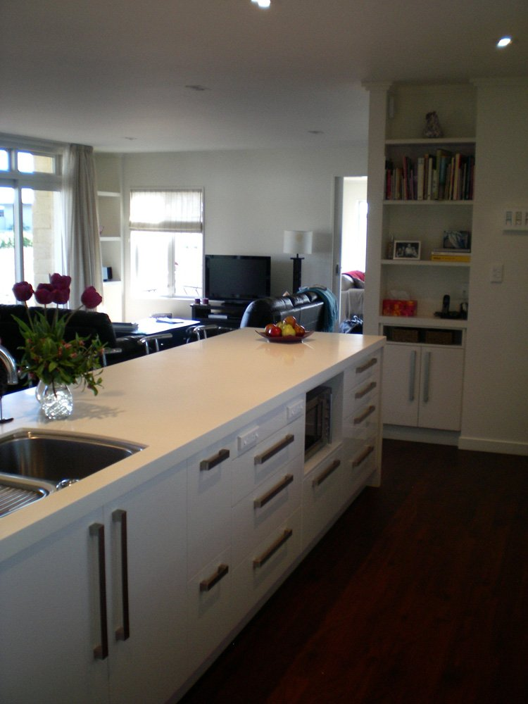 View of the kitchen fitted with various accessories in Christchurch