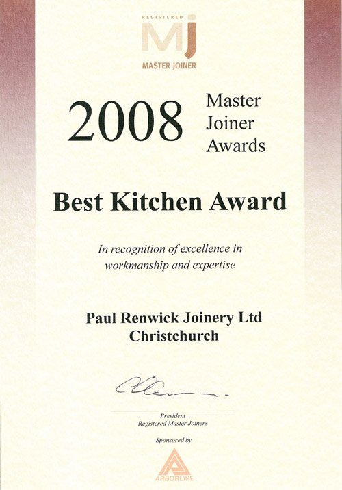 2008 Best Kitchen award