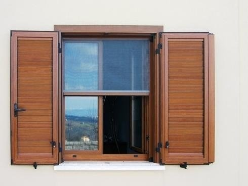 persiana legno alluminio