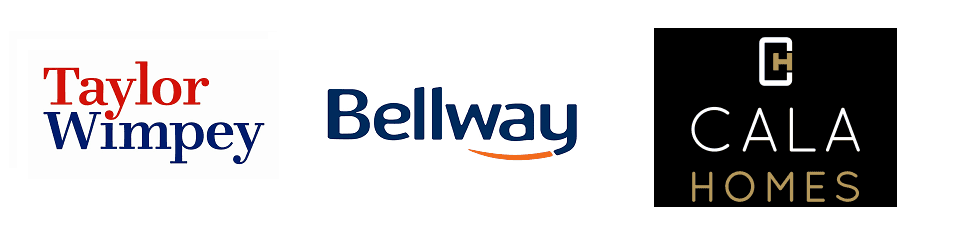 Taylor Wimpey, bellway and Cala Homes logo