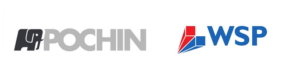 Pochin and WSP logos