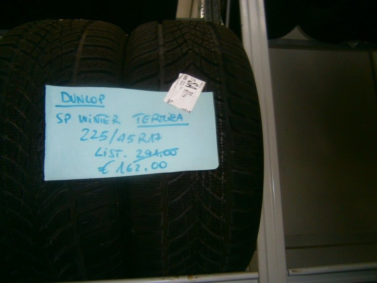gomme nuove dunlop sp winter termiche 225/45R17