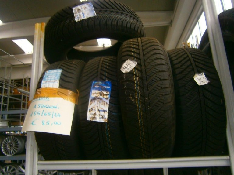 gomme nuove goodyear 4 stagioni 185/65/14