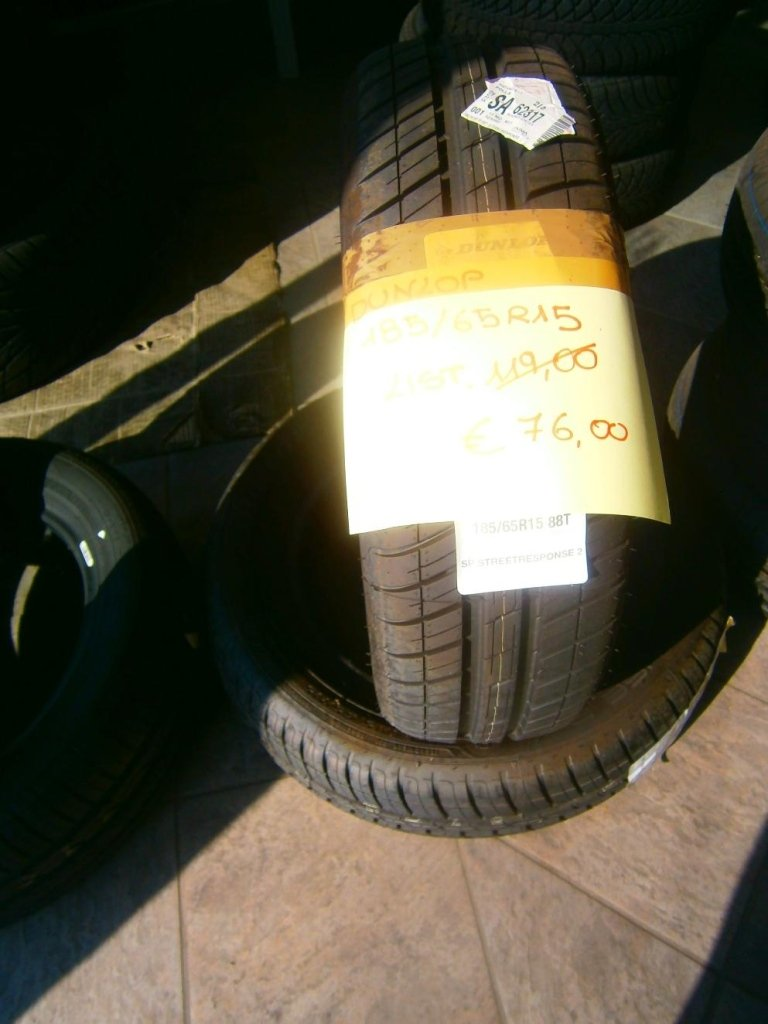 gomme nuove dunlop 185/65R15
