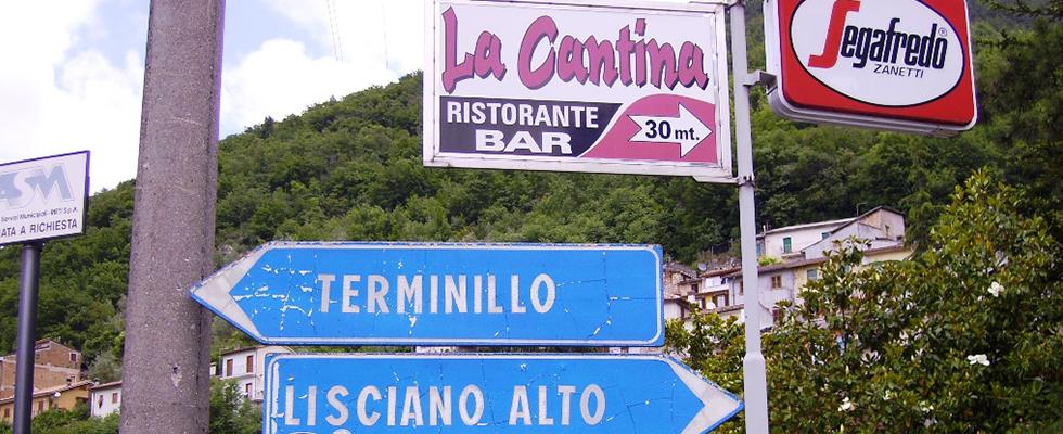 Trattoria la Cantina, Rieti, Lisciano, Monte Terminillo