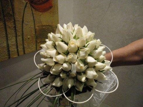 bouquet rose con decorazione