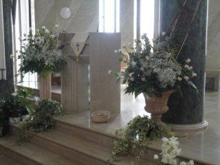 allestimento chiese per matrimoni