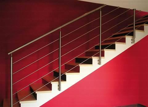 scalinata interna in ferro battuto