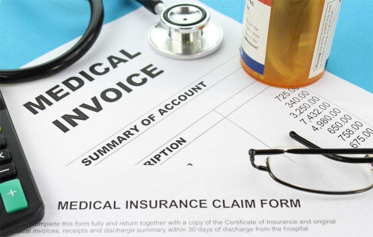 optometric billing invoice medical insurance coding claims