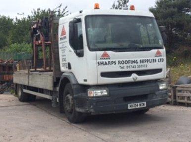 Sharps Roofing Supplies Ltd company van