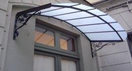 tettoia ferro battuto
