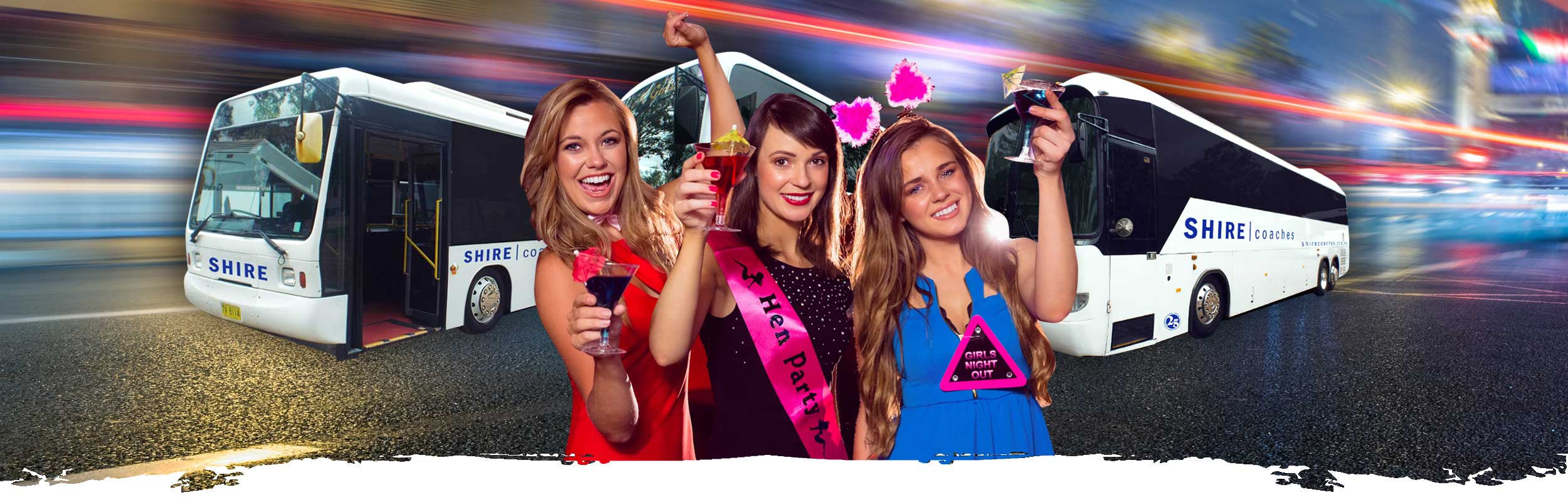 bucks and hens parties bus charters image