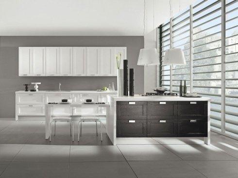 mobili neri per cucina